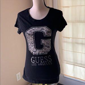 3/$20 Guess Los Angeles black tee shirt